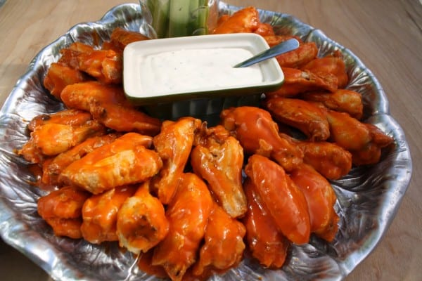 Buffalo Wings on a sliver platter