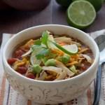 Chicken Tortilla Soup {Leftover Chicken Recipe}