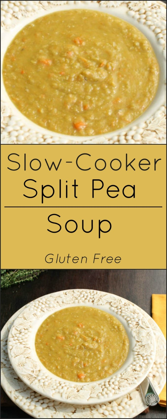 Easy Split Pea Soup makes good use of leftover ham. It's also gluten free!