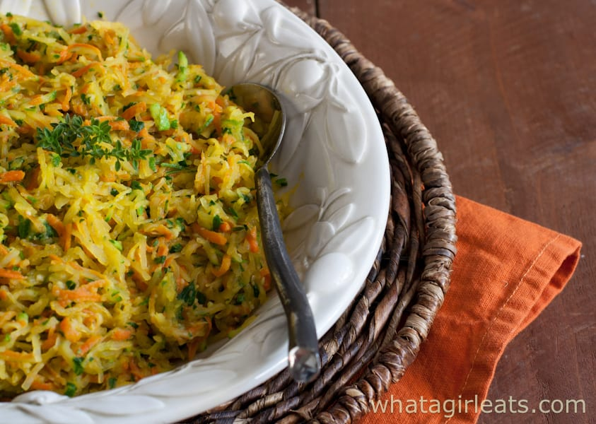 This tri-color Harvest Squash is the perfect autumn side-dish.