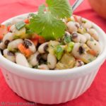 Texas caviar is a classic side dish recipe of spiced and flavored black eyed peas, most notably served on New Year's Day for good luck! | Recipe from @whatagirleats