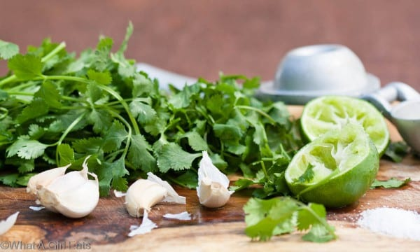 Garlic, lime, and cilantro are great flavors for a Mexican-style dinner!