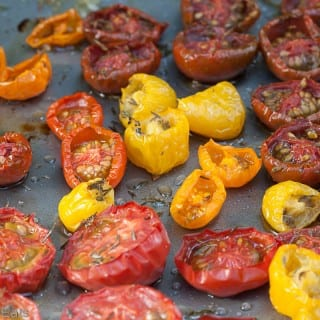 Oven dried Moonblush Tomatoes