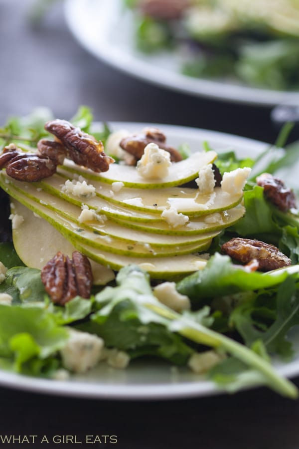 Top 10 Healthiest Dishes Of 2016. Pear and gorgonzola salad with candied pecans