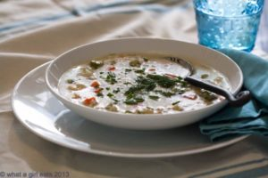 Greek Avgolemono soup with vegetables