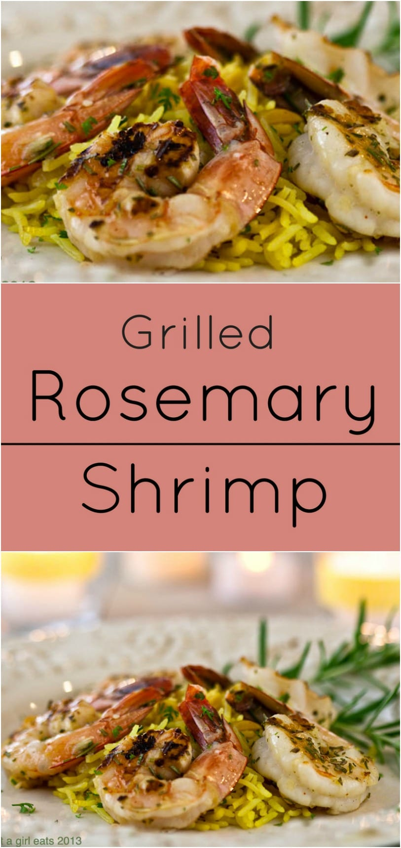 Grilled Rosemary Shrimp is ready in under 30 minutes! Low carb, Paleo and Whole30 Compliant.