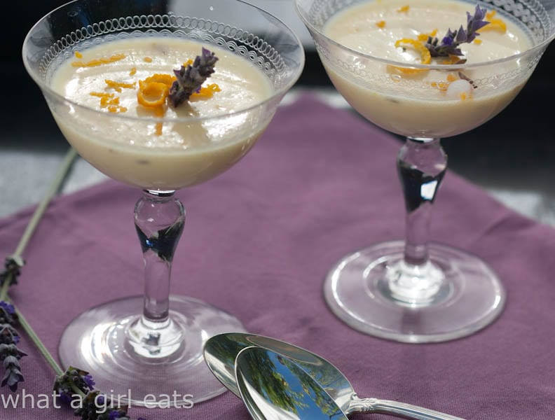 Cooking With Herbs, Lavender. Orange, honey and lavender posset.