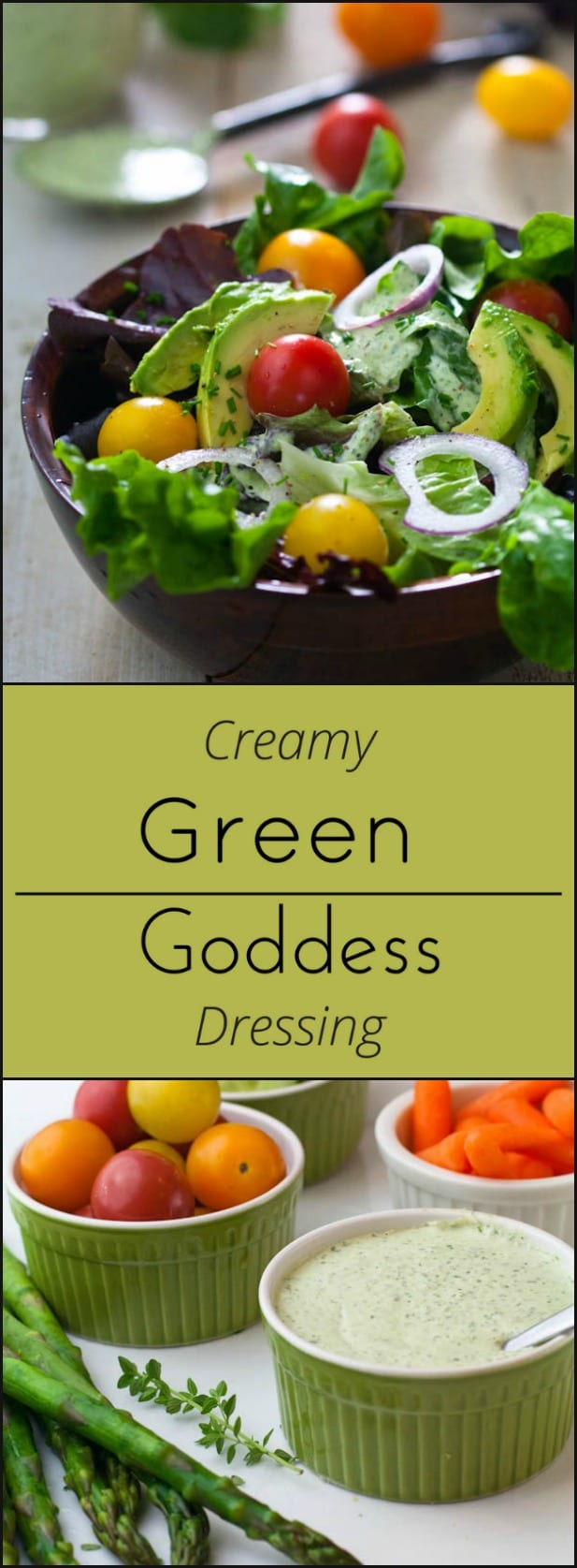 Green Goddess Dressing is easy to make, low carb and gluten free!