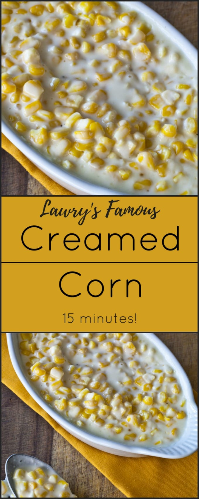 Lawry's Classic Creamed Corn is the perfect side dish to any meal!