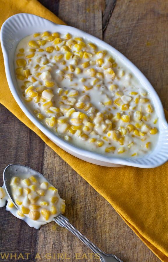 homemade creamed corn.