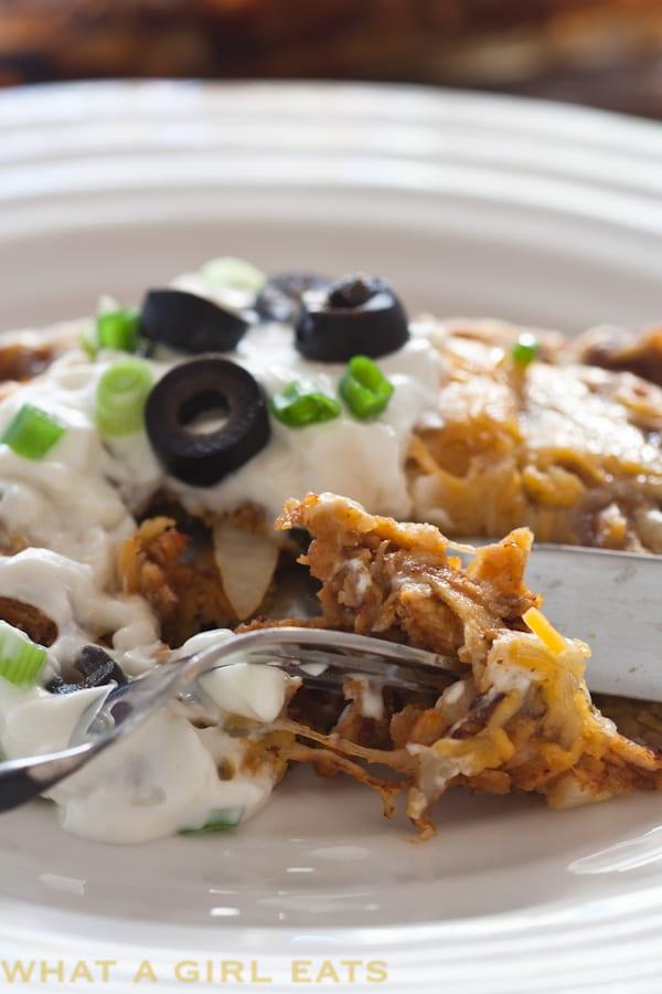Cheesy Turkey Enchiladas - a delicious healthy Mexican dinner.