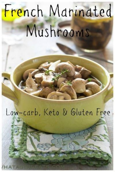 marinated mushrooms pin