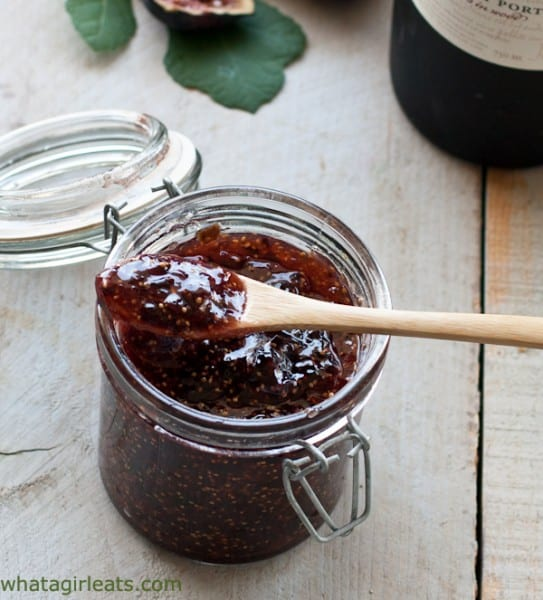 Fig and ruby port jam