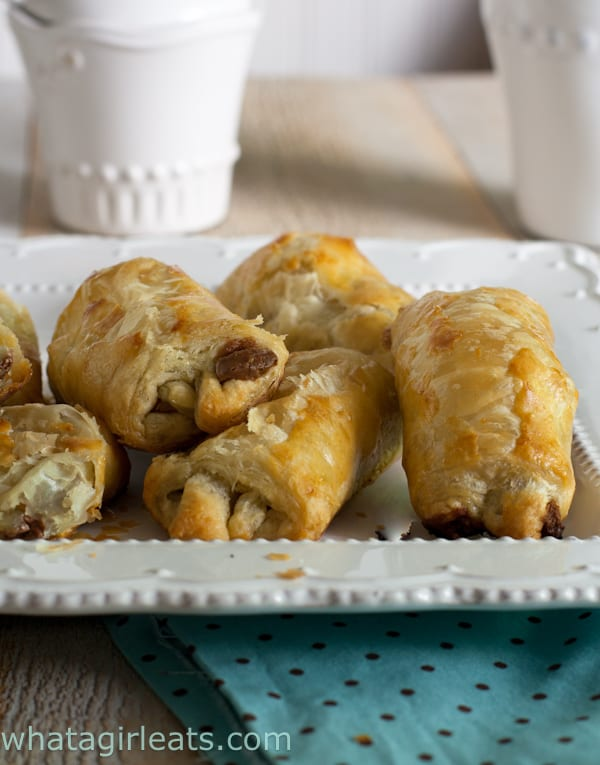 Petit pain au chocolat are a lovely breakfast or coffee treat.  - Get the recipe from What a Girl Eats