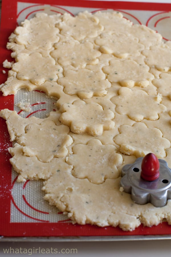 Savory Cheddar and Rosemary Shortbread