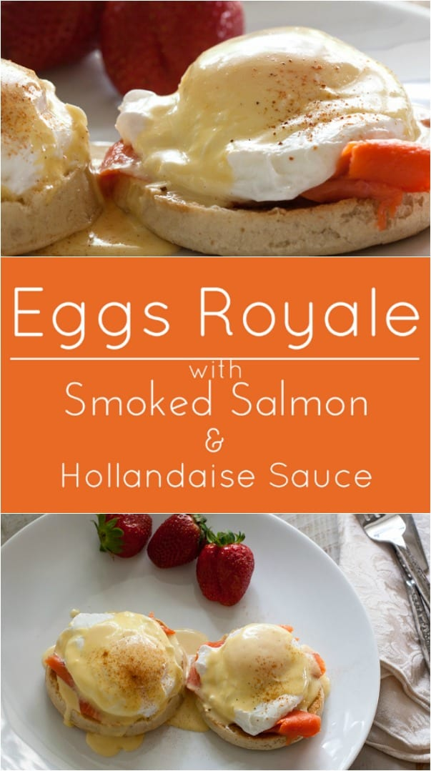 Eggs Royale. Poached Eggs on English Muffins with Smoked Salmon and 30 Second Blender Hollandaise.