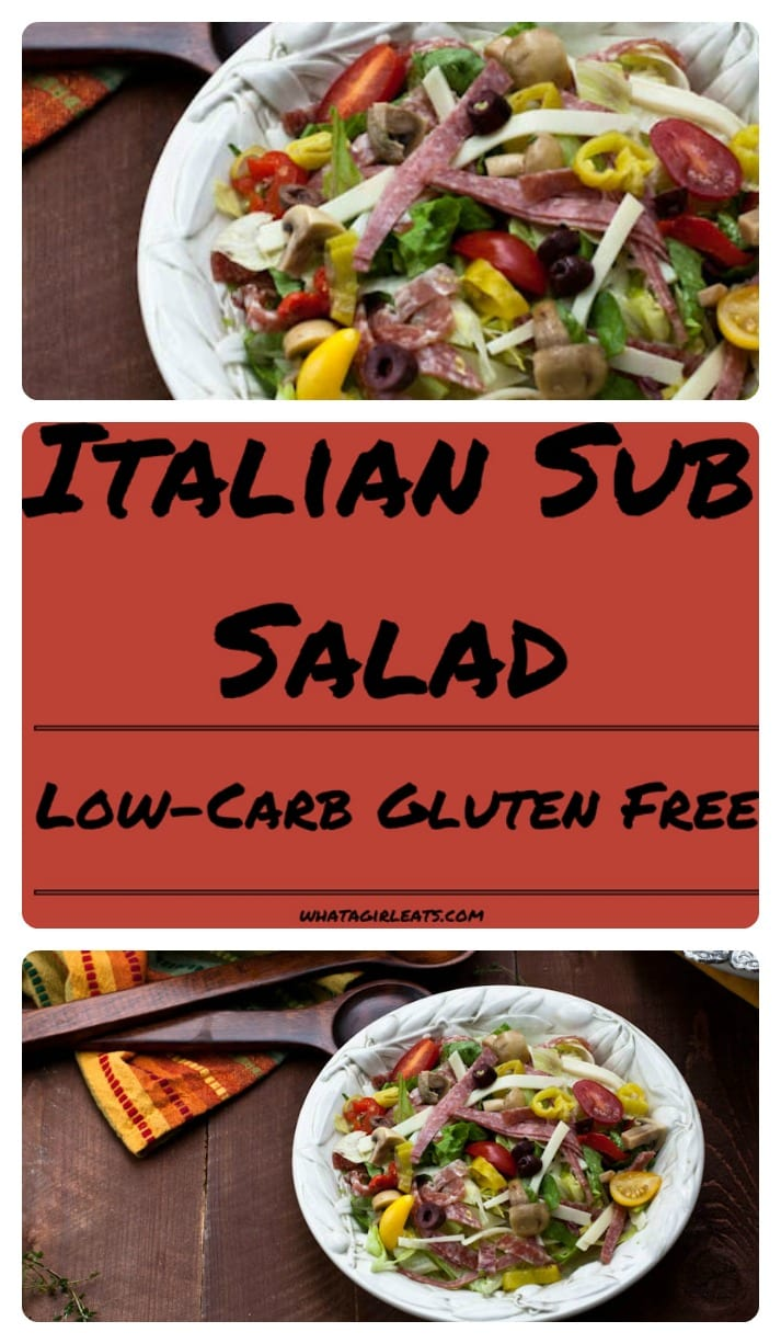 This antipasto salad has all the flavors of a sub sandwich without the pesky carbs! Gluten free!