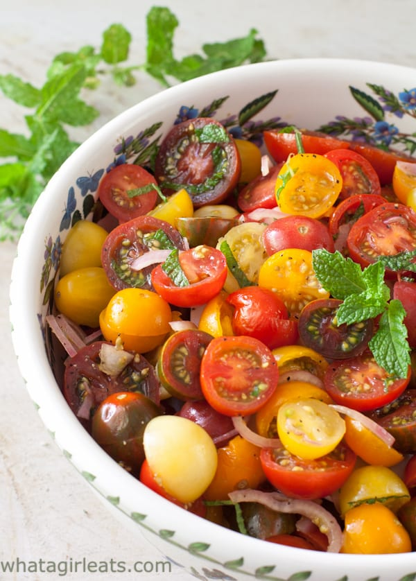 side shot of salad