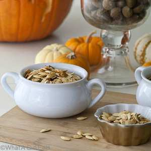 Roasted Pumpkin Seeds {Pumpkin Carving Fun}