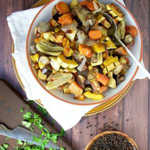 Simple Roasted Fall Vegetables. Photo credit: Pinch and Swirl.
