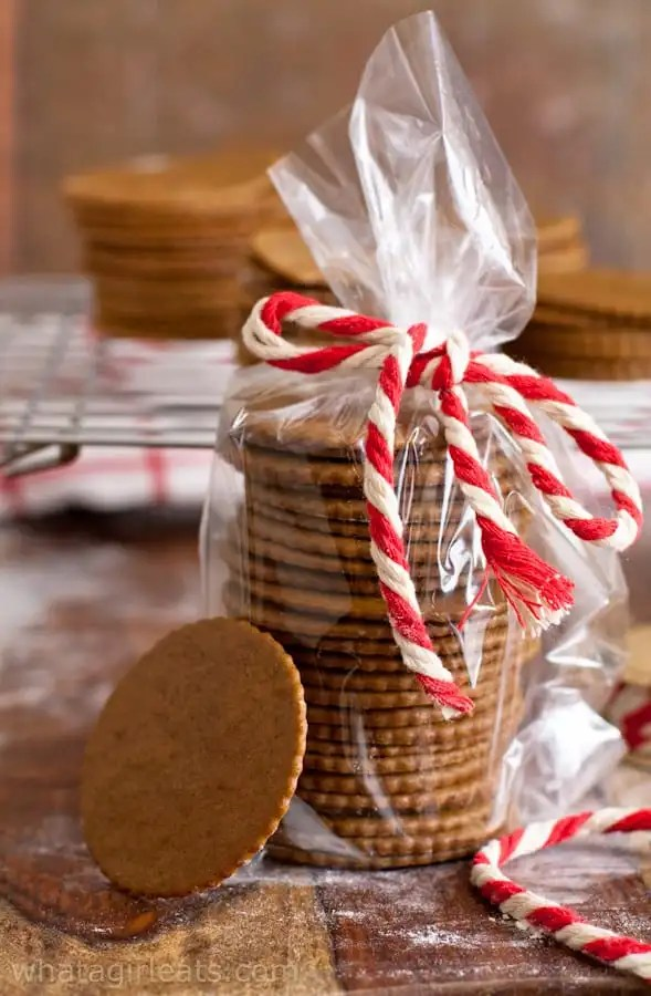 Moravian Molasses cookies are wafer thin, crispy and spicy. They make a great packable cookie too!