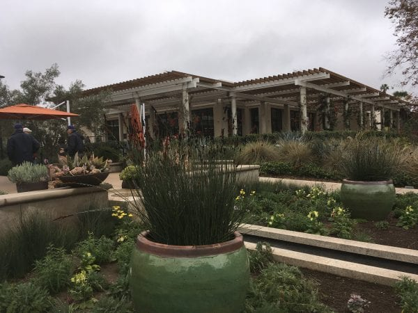 The newly renovated 1919 Cafe at the entrance to the Huntington Library And Gardens In Pasadena.