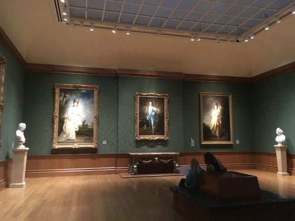 Gainsborough's Blue Boy in the gallery of the main house which holds the European art collection. The Huntington Library And Gardens In Pasadena