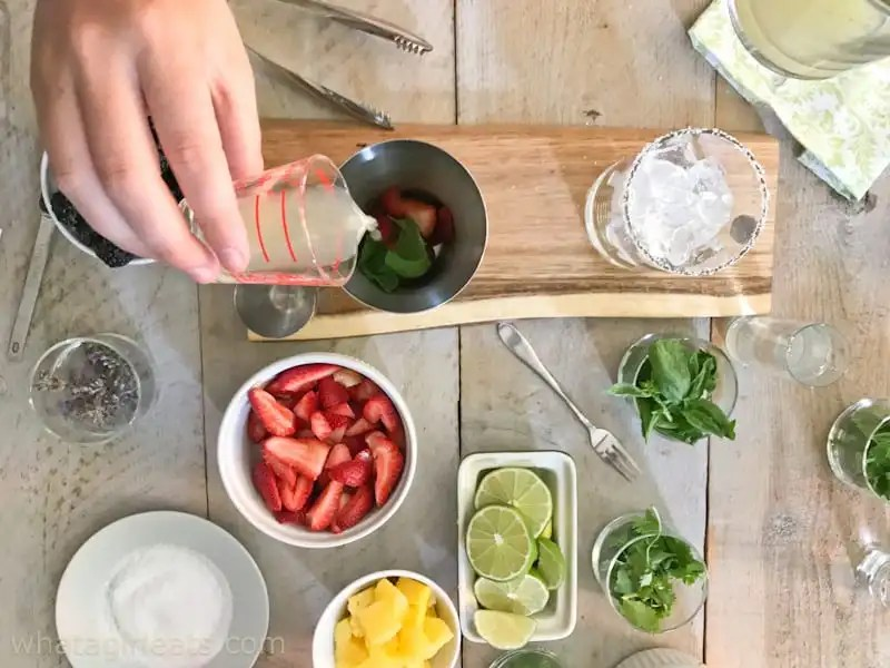 Strawberry-Basil Margarita. How To Throw The Perfect {Make Your Own} Margarita Party!