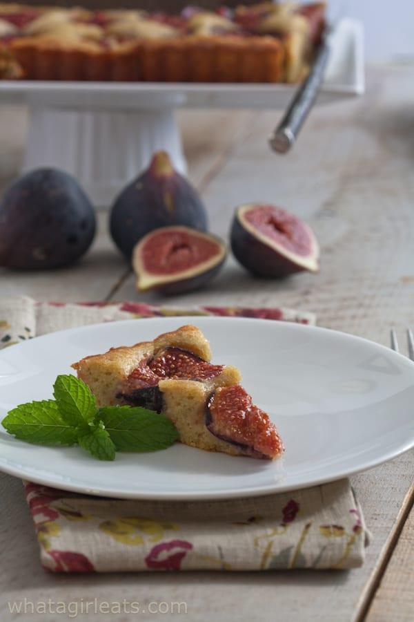 Grain free fig and walnut tart.