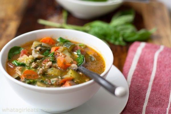 Mediterranean Soup Sausage Pistou Whole30