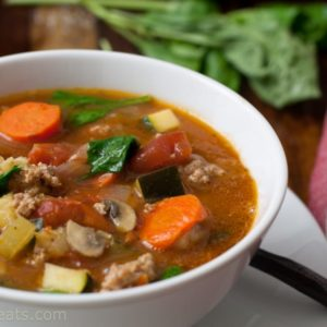 Mediterranean Soup With Sausage and Pistou {Whole30 Compliant}