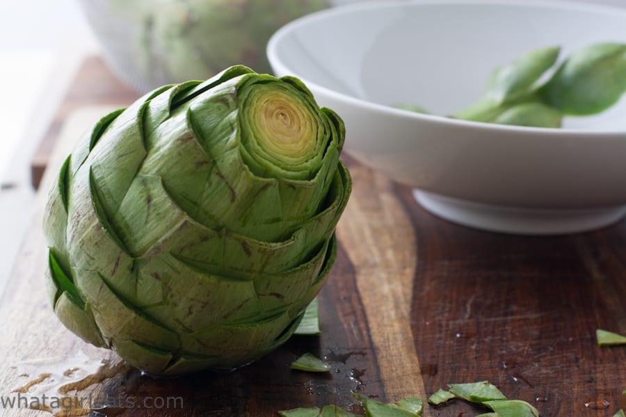 Trimmed artichoke heart