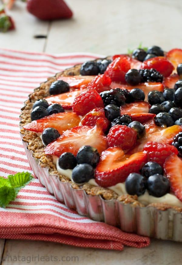 Fruit tart with glaze