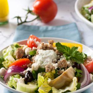 Keto Greek Gyro Salad