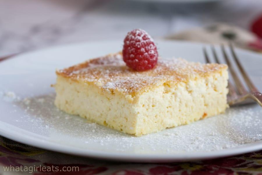 blintz souffle on a white plate