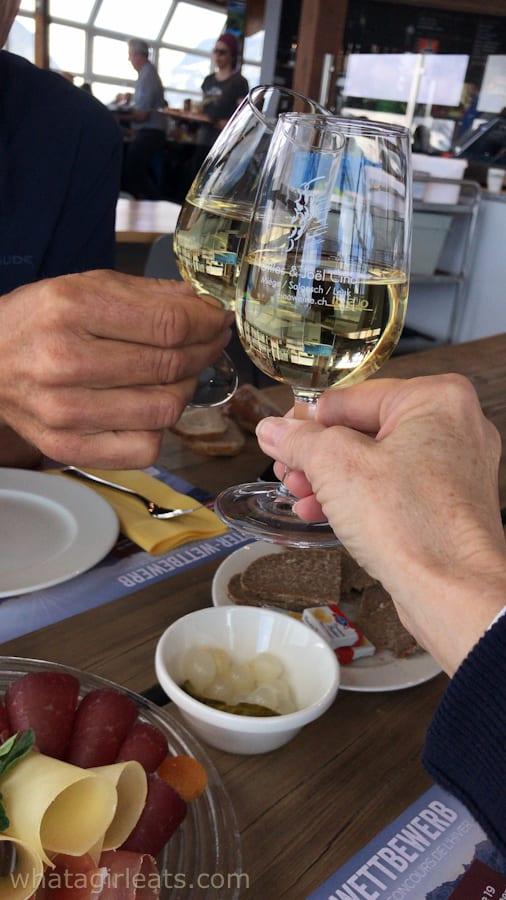 Toast and wine