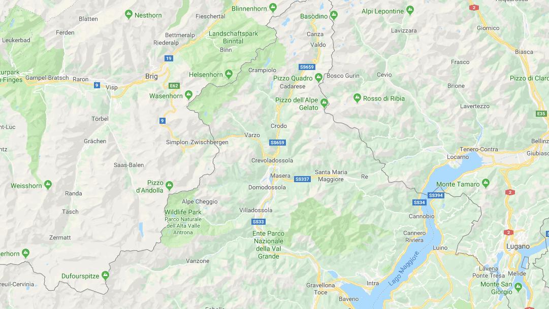 map of southern switzerland