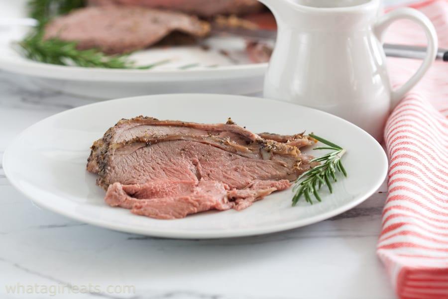 Medium rare lamb