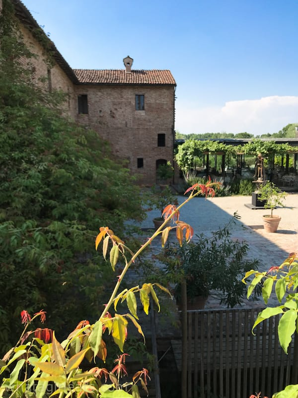 courtyard of antica corte pallavicinaA Slow-Food Dining Experience in Emilia-Romagna