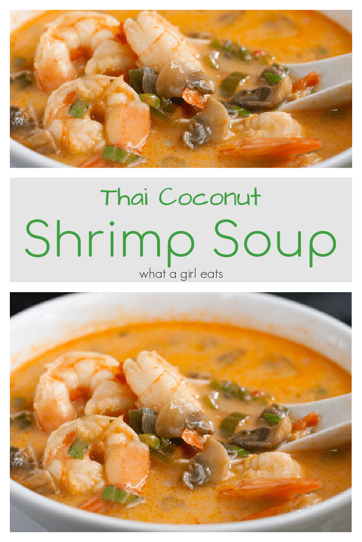 A delicious thai curry based broth with shrimp and vegetables.
