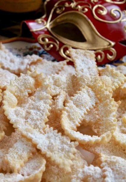 Frappe or cioffee Italian Bow tie cookies