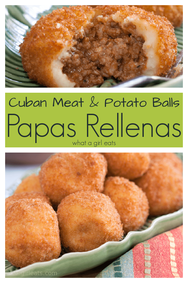 Authentic Cuban Papas Rellenas are meat filled potato balls. A delicious and traditional Cuban snack or meal.