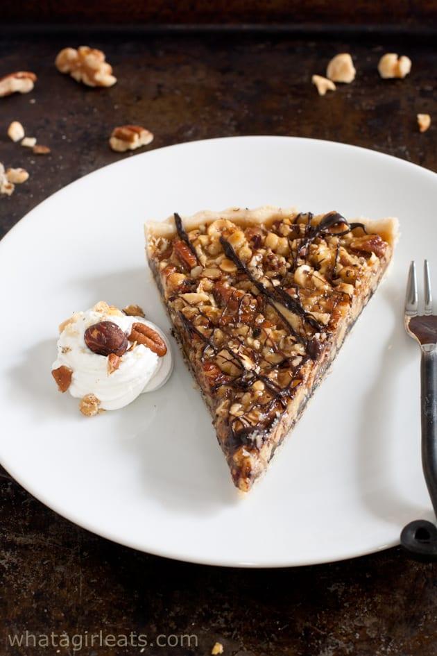 Chocolate nut tart