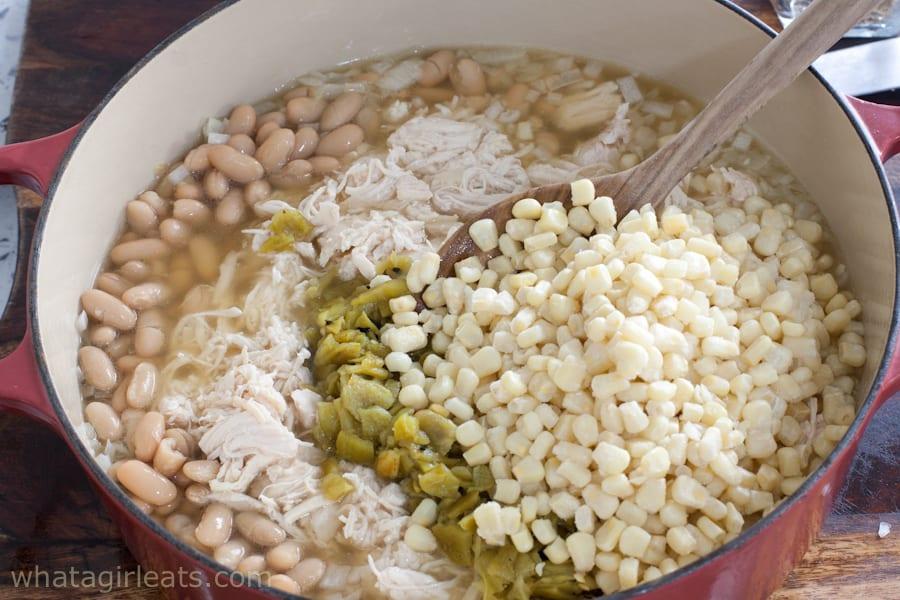 adding corn to chili