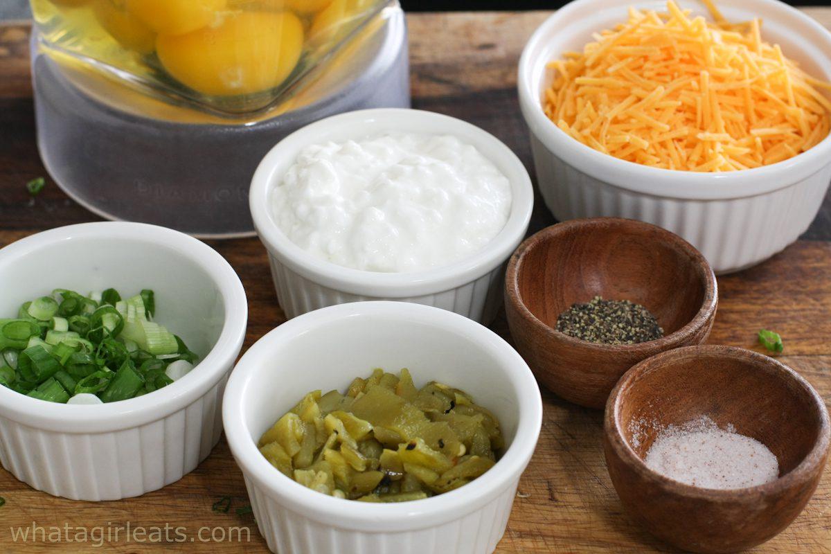 ingredients for egg bites