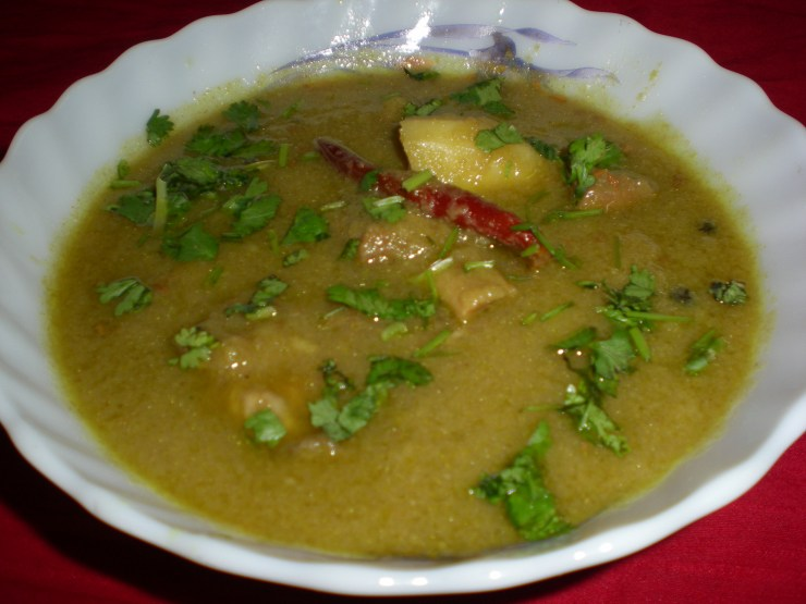 Green Rezala Gosht Recipe