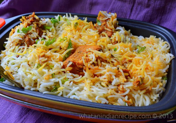 Hyderabadi Chicken Dum Biriyani Recipe
