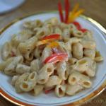 Cheesy Pasta with Bell Peppers
