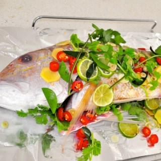 whole BBQ thai flavoured snapper