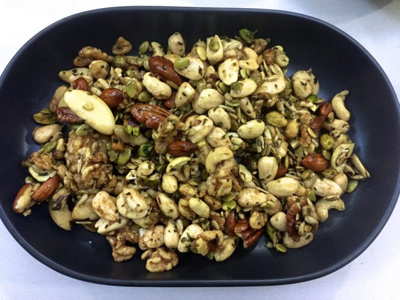 hot sweet salty nuts recipe